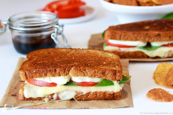 Caprese Grilled Cheese by www.cookingwithruthie.com is the delicious caprese flavors wrapped up in a grilled sandwich! YUM!!
