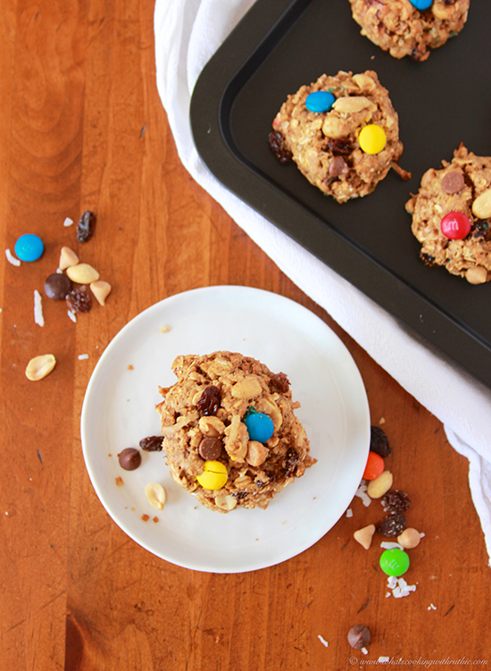 Coconut Trail Mix Cookies by www.cookingwithruthie.com are a healthy way to satisfy your sweet tooth!