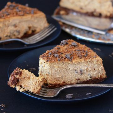 Cookie Dough Cheesecake on www.cookingwithruthie.com is absolutely divine!