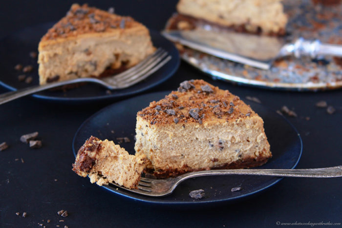 Today's Chocolate Chunk Cookie Dough Cheesecake Recipe will impress all your guests! by cookingwithruthie.com