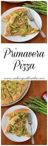 Primavera Pizza on www.cookingwithruthie.com is a quick and easy spring inspired dinner!