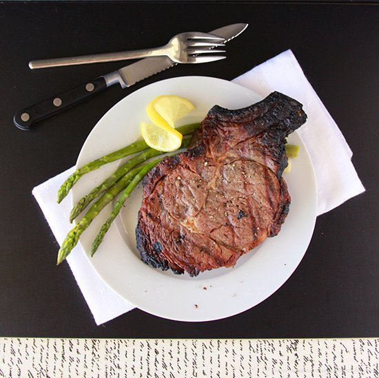 Lemon Pepper Steak Marinade on www.cookingwithruthie.com is a delicious way to grill your favorite steak!