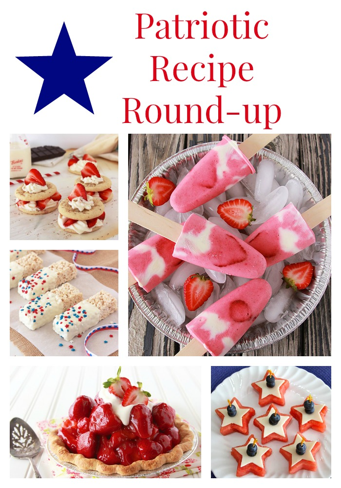 Patriotic Recipe Round-up on www.cookingwithruthie.com is a delicious collection for your July Celebrations!