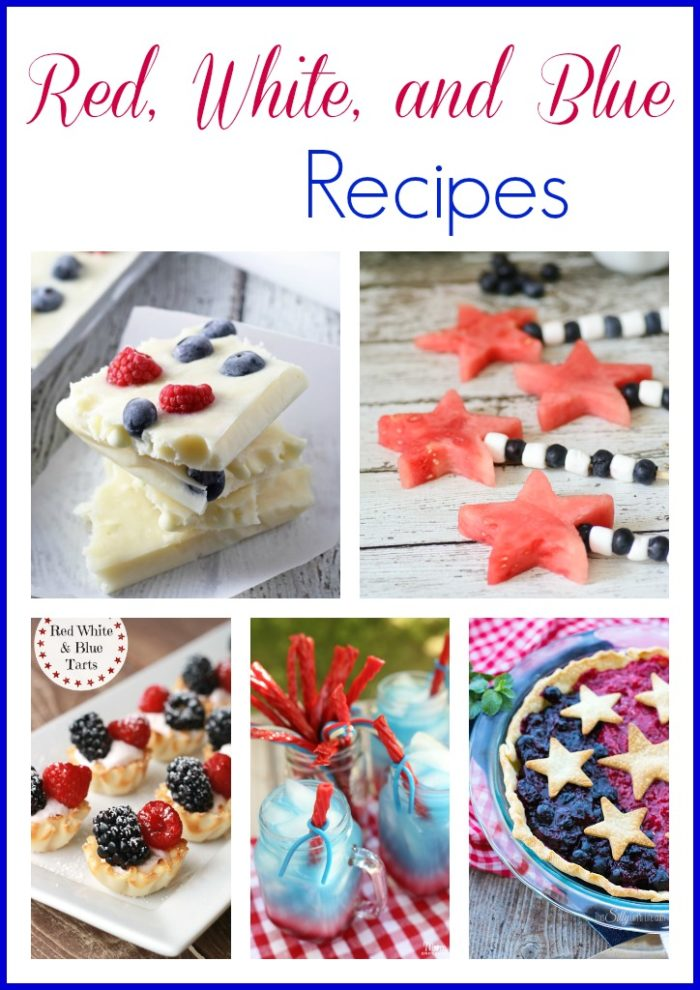 Red, White, and Blue Recipes for your July festivities! on www.cookingwithruthie.com