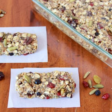 Berry Medley Raw Bars on www.cookingwithruthie.com are a healthy snack that tastes amazing!