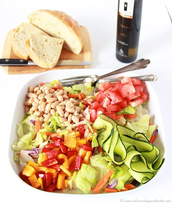 Today's Country Italian Salad Recipe is as beautiful as it is nutritious--you'll love every bite! by cookingwithruthie.com