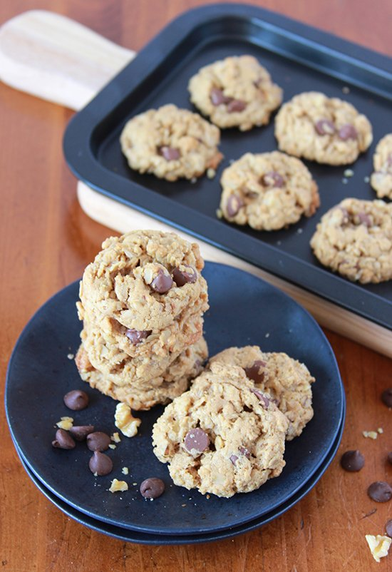 Gluten Free Oatmeal Chocolate Chippers on www.cookingwithruthie.com are SO good no one will ever guess they're gluten free!