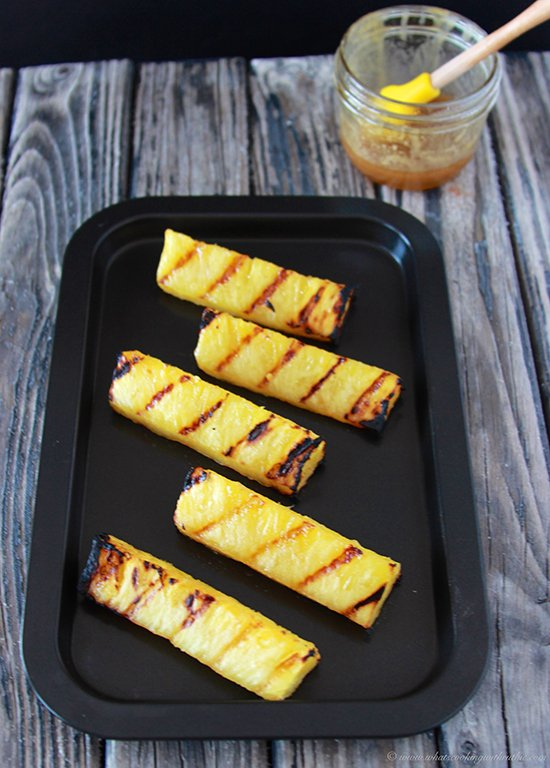 Grilled Pineapple ala Mode on www.cookingwithruthie.com is summertime at it's best!