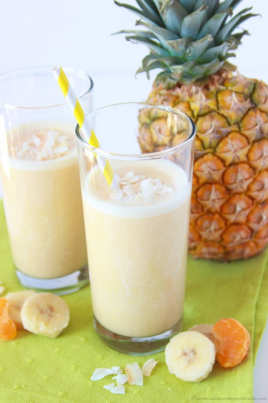 Pineapple Orange Banana Smoothie is a healthy and refreshing beverage ...