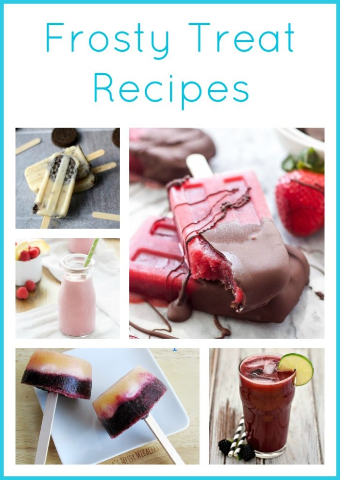 Frosty Treat Recipes from Super Saturday to stay cooled off this summer! on www.cookingwithruthie.com