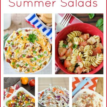 Summer Salad Recipes on www.cookingwithruthie.com are just what your summer picnics need!