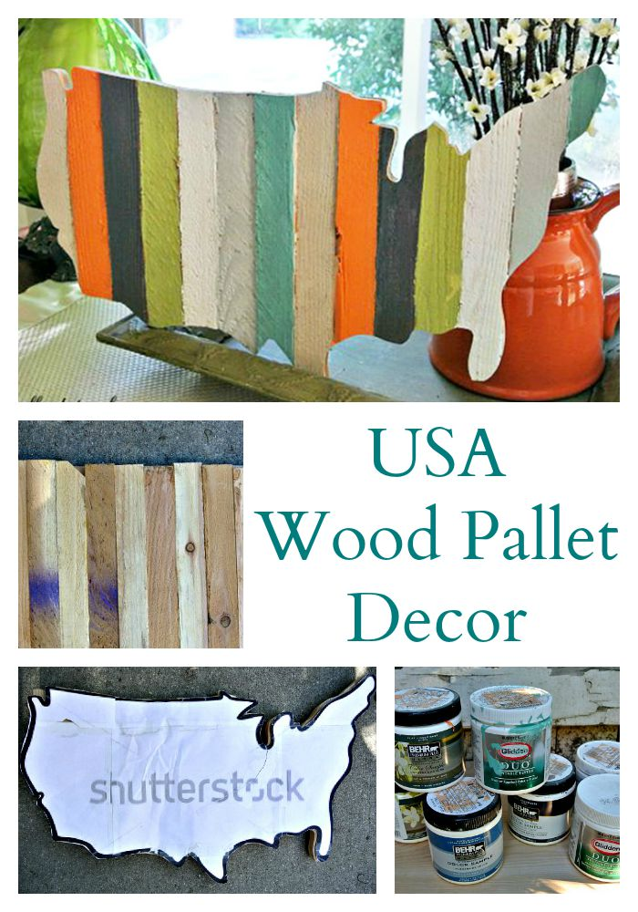 Usa Pallet Wood Decor Cooking With Ruthie