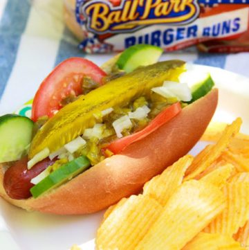 Chicago Style Dogs Grillathon get your summer grilling on with Ball Park® Park's Finest hotdogs and a Chicago Style Toppings Bar!