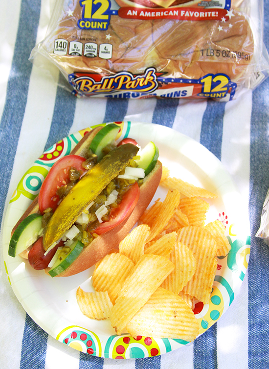 Chicago Style Dogs Grill Party on www.cookingwithruthie.com get your summer fun started with #ballpark