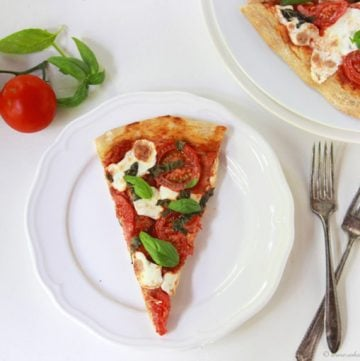Pizza Margherita on www.cookingwithruthie.com is a delightful classic combination!