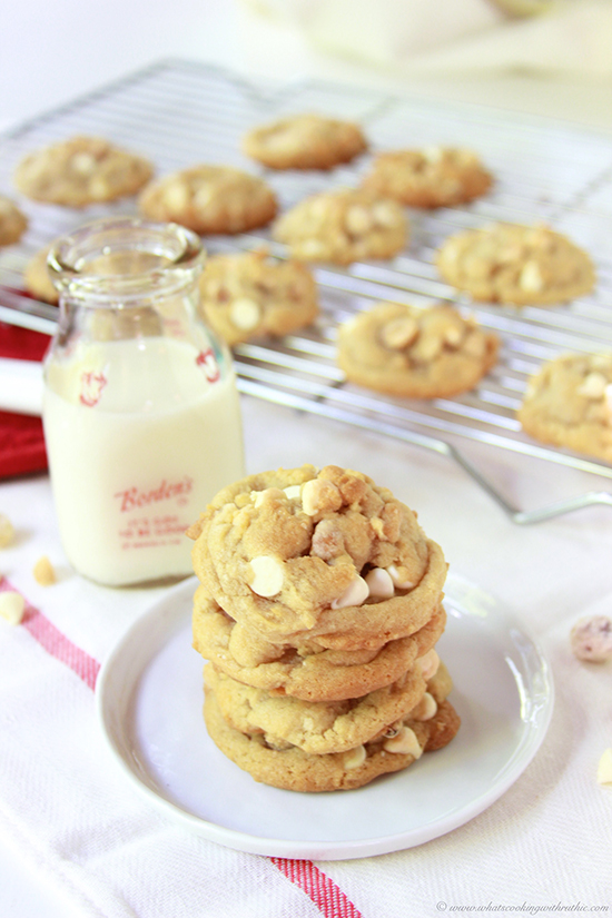 White Chocolate Chip Hazelnut Cookies on www.cookingwithruthie.com is a mouth-watering combination!