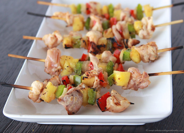 Chicken Brochettes on www.cookingwithruthie.com will be your favorite game day appetizer!