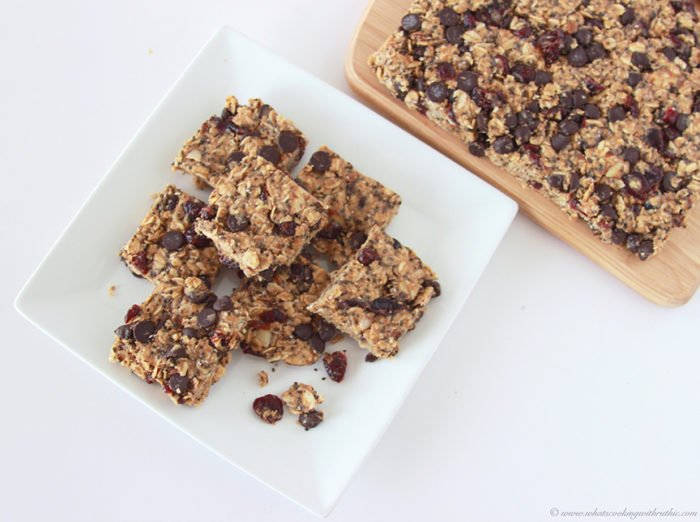 Dark Chocolate Cranberry Raw Bars on www.cookingwithruthie.com are a healthy way to fuel the day and fitness tips!