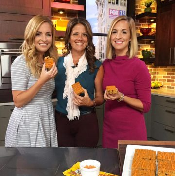 Skinny Pumpkin Bars on Fox13 to inspire your autumn baking! www.cookingwithruthie.com