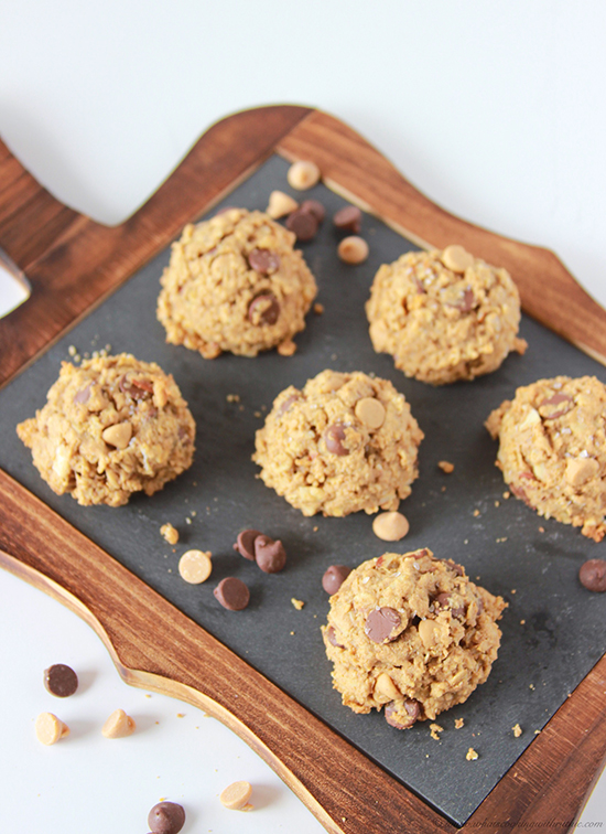 Healthy Peanut Butter Chocolate Walnut Cookies on www.cookingwithruthie.com you'll never believe they're healthy! YUM!!