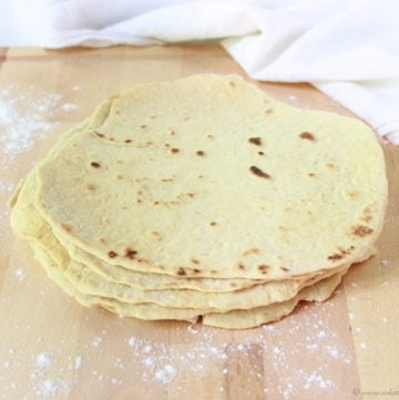 Homemade Flour Tortillas on www.cookingwithruthie.com are so simple to make at home!