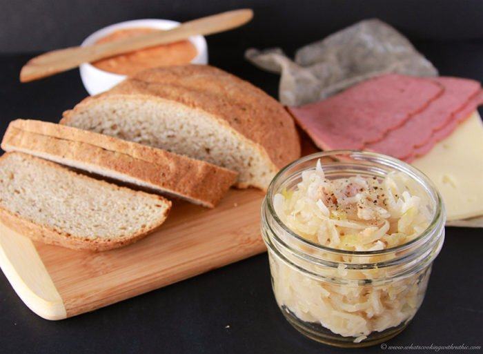 German Homemade Sauerkraut is popular side dish for German foods! on www.cookingwithruthie.com