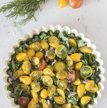Garden Vegetable Impossible Quiche by www.whiskandmuddler.com on www.cookingwithruthie.com it's really very simple to make and delicious too!