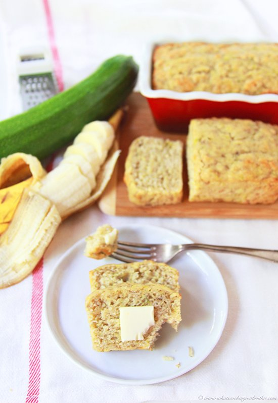 Sourdough Banana Zucchini Bread by www.cookingwithruthie.com is an unbelievably delicious loaf!