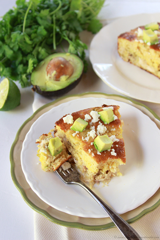 Chicken Enchilada Corn Bread Pie on www.cookingwithruthie.com is a simple southern dinner! #spon