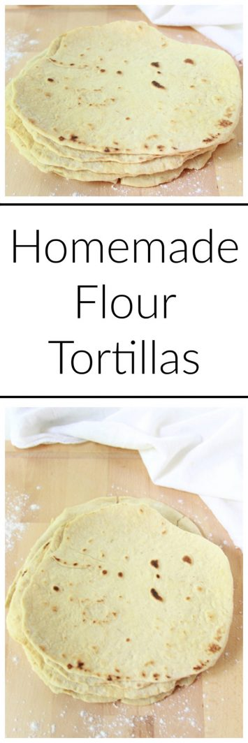 Homemade Flour Tortillas on www.cookingwithruthie.com are so simple to make at home and my recipe uses extra virgin olive oil so they're healthier too!