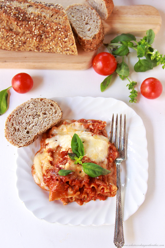 My Momma's Lasagna by www.cookingwithruthie.com will bring a smiles to your dinner table!
