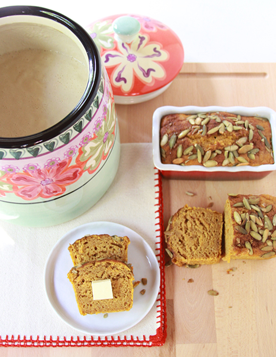 Sourdough Pumpkin Loaf on www.cookingwithruthie.com has that subtle sourdough tang mixed with pumpkin to make a delightful fall loaf!