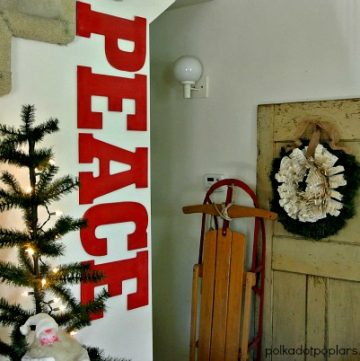 DIY Holiday Decor by www.polkadotpoplars.com on www.cookingwithruthie.com to inspire your holidays!