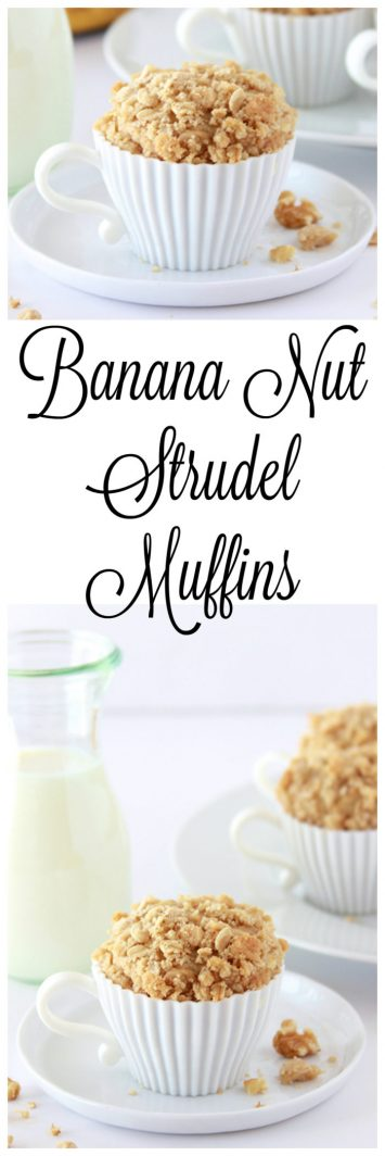 Banana Nut Strudel Muffins on www.cookingwithruthie.com is the best way to overripe banana- it's one our favorites!
