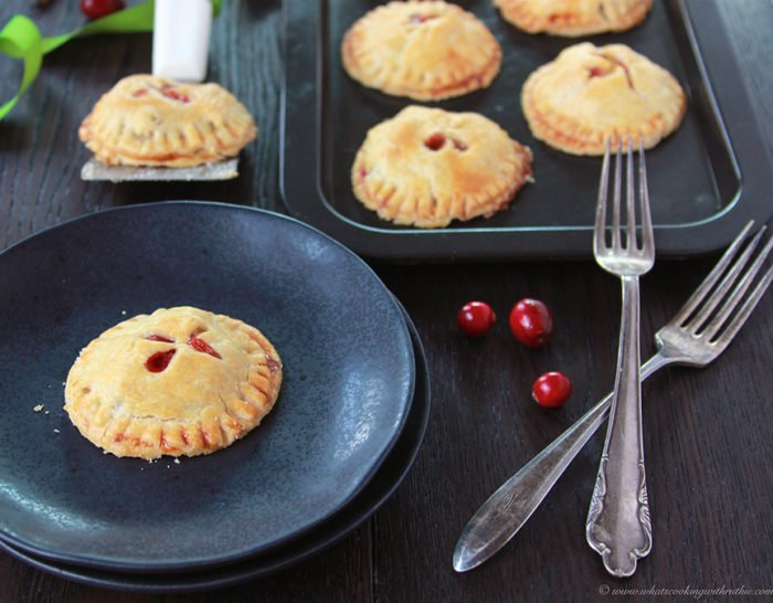 Cranberry Apple Hand Pies on www,cookingwithruthie.com are going to be the hit of your holidays! #truvia #spon