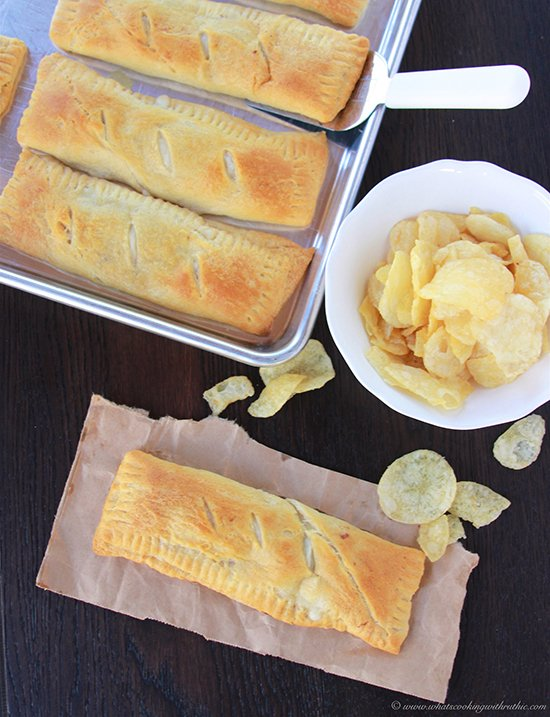 Philly Cheese Steak Pockets on www.cookingwithruthie.com are quick and easy for dinner with Pillsbury Crescents®!