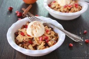 Pomegranate Apple Cranberry Cobbler on www.cookingwithruthie.com is the perfect way to use up that extra pie dough!