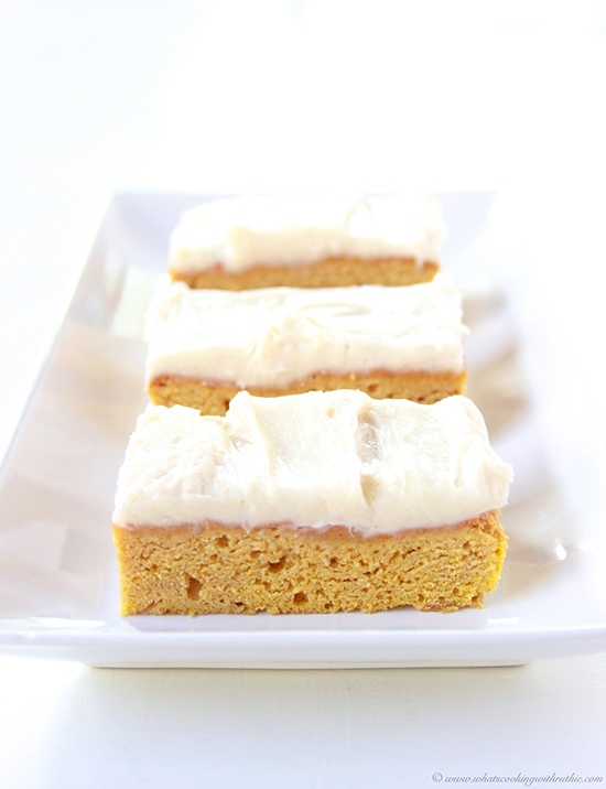 Pumpkin Bars with Cinnamon Cream Cheese Frosting - Cooking With Ruthie