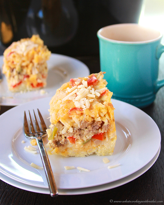 Slow Cooker Breakfast Casserole on www.cookingwithruthie.com turns out just perfectly!