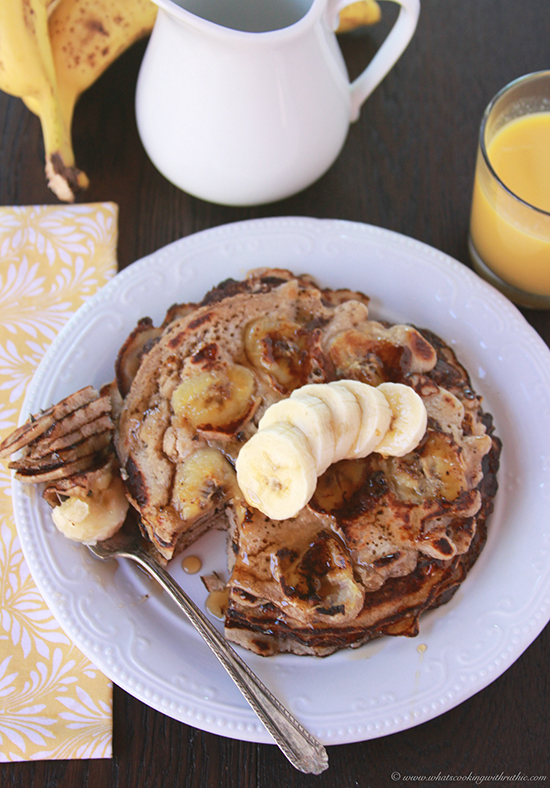 Banana Sourdough Pancakes on www.cookingwithruthie.com will take breakfast to the next level!