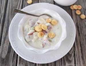 Thee BEST Clam Chowder on www.cookingwithruthie.com is a winter time favorite around our house!