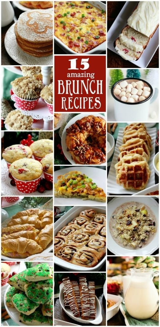 15 Holiday Brunch Recipes on www.cookingwithruthie.com is a delicious collection from our Blogger Brunch 2015!