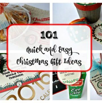 101 Quick and Easy Christmas Gift Ideas by www.polkadotpoplars.com on www.cookingwithruthie.com