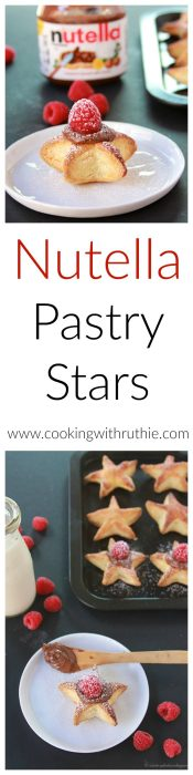 Nutella Pastry Stars on www.cookingwithruthie.com will make your holidays merry and bright!
