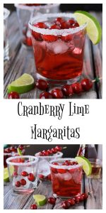 Cranberry Lime Margaritas on www.cookingwithruthie.com is a beautiful addition to your holiday parties! #SparklingHolidays @walmart