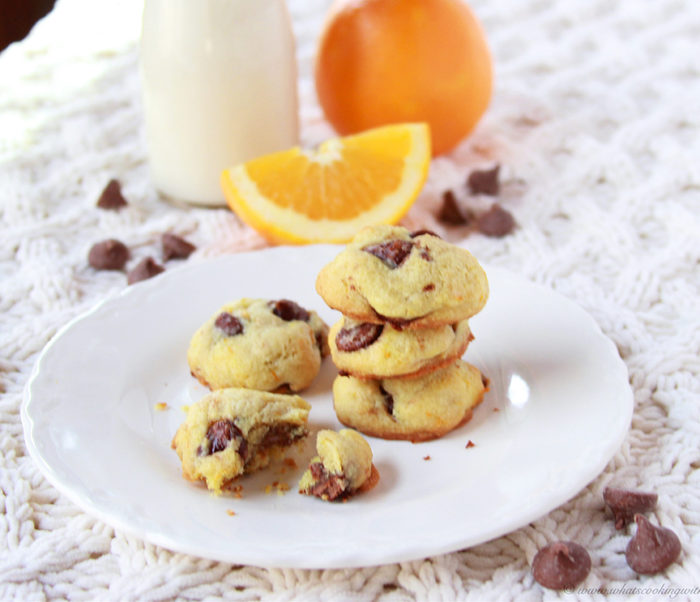 Orange Chocolate Chip Cookies on www.cookingwithruthie.com is a surprisingly delicious combination!