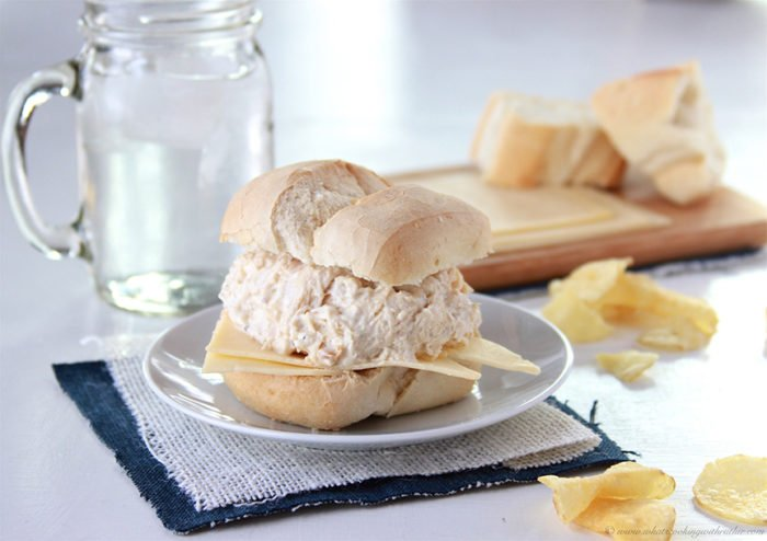Italian Chicken Sliders on www.cookingwithruthie.com a slow cooker recipe that the whole family will love!