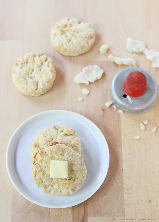 Sourdough Biscuits on www.cookingwithruthie.com are a a fun new twist on the basic biscuits!