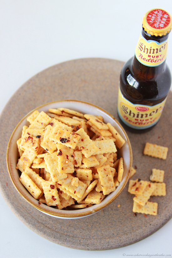 Spicy Mini Club Crackers on www.cookingwithruthie.com will be the party fave!
