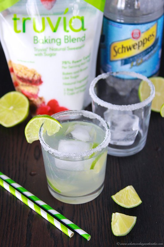 Truvia Lime Spritzer on www.cookingwithruthie.com to kick your feet back and relax this year! #ad #LifeWithLess @truvia